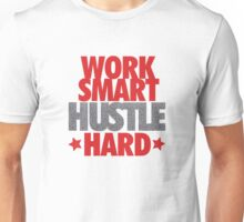 Work Smart Hustle Hard- Speckled Unisex T-Shirt