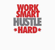 Work Smart Hustle Hard- Speckled Unisex T-Shirt
