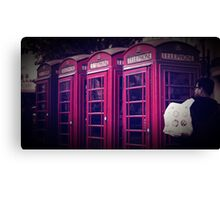 old red london telephone boxes Canvas Print