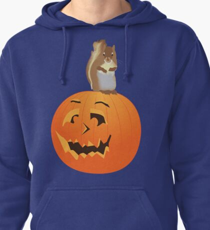 Squirrel on the Pumpkin Pullover Hoodie