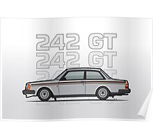 Volvo 242 GT 200 Series Coupe Poster