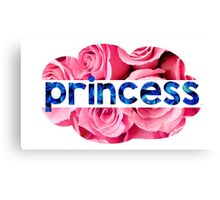 Flower princess of the roses Canvas Print