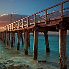 Warm Rays on a Pier - For Larger Prints by Krishna Gopalakrishna