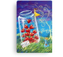 My Jar of Hearts Canvas Print