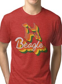 Retro Beagle Tri-blend T-Shirt