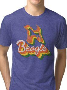 Retro Beagle Tri-blend T-Shirt
