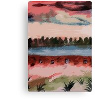 The Dam, watercolor Canvas Print