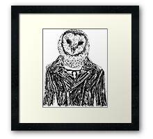 Owl Jacket Framed Print