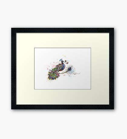 Royale Paisley Peacock Framed Print