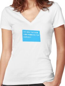 god produces Women's Fitted V-Neck T-Shirt