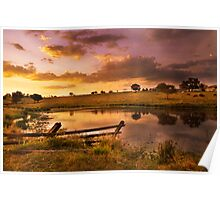 Queensland Country Sunset Poster