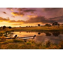 Queensland Country Sunset Photographic Print