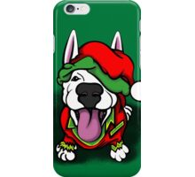 Christmas Festive Happy Bull Terrier iPhone Case/Skin