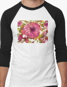 Pink Petal Flight Men's Baseball ¾ T-Shirt
