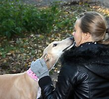 Fiona galgo with Anu by homesick