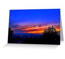 Capital Sunset Greeting Card