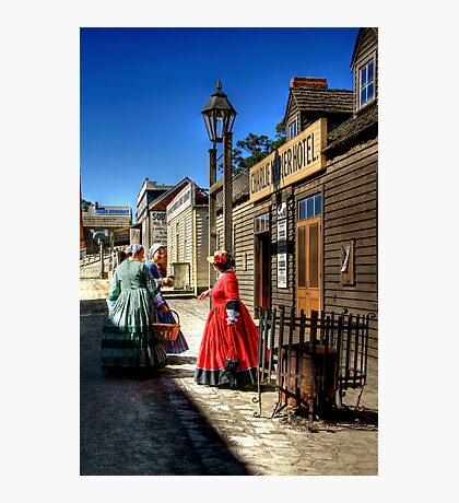 Stepping Back in Time at Sovereign HIll Photographic Print