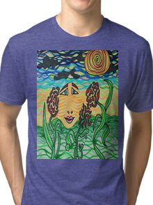 Face in the Sky Tri-blend T-Shirt