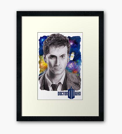 Doctor Who No.10 - David Tennant 2 Framed Print