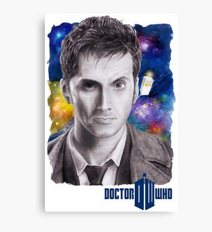 Doctor Who No.10 - David Tennant 2 Canvas Print