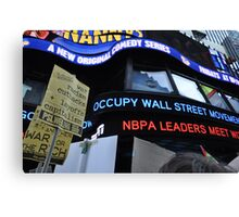 Occupy Wall Street Goes Worldwide October 15 2011  Canvas Print