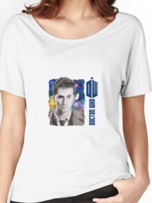David Tennant Doctor Who D/S Mug Women's Relaxed Fit T-Shirt