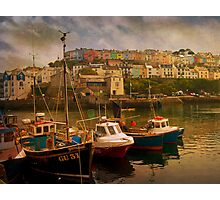 Fishing Boats at Brixham Photographic Print