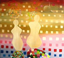 "ORIGINAL PAINTING ON CANVAS "" The Infinite puzzle"" 39.12""  x  29.8""  $ 329.00 by simonadancila"