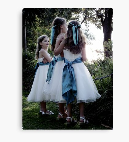 Beautiful Flower Girls Canvas Print