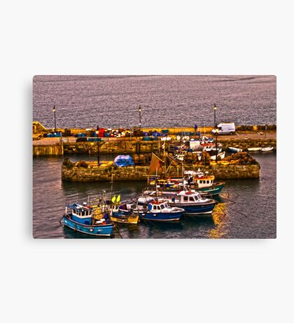 Fishing Boats of Newquay Canvas Print