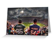 Bears vs. Packers HDR Greeting Card