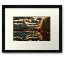 Colorful lake Waban Framed Print
