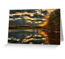 Colorful lake Waban Greeting Card