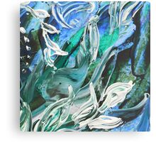 Abstract Floral Water Force Canvas Print
