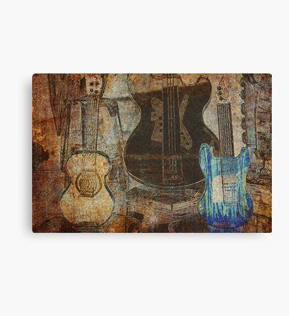 Guitar Grunge Canvas Print