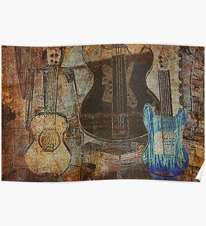Guitar Grunge Poster