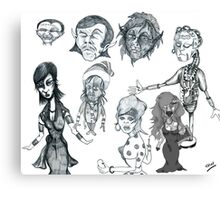 Cartoon Collection Pencil Drawings 2011 Canvas Print