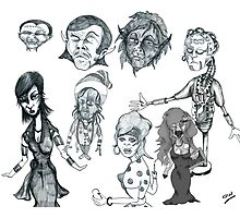 Cartoon Collection Pencil Drawings 2011 Photographic Print