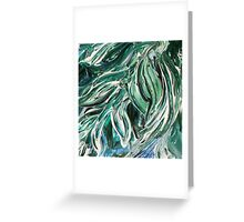 Abstract Floral Tickling Breeze Greeting Card