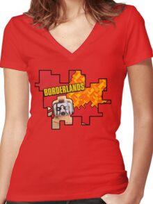Lego Borderlands  Women's Fitted V-Neck T-Shirt