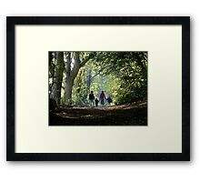 Father,Son,Mother,Daughter Framed Print