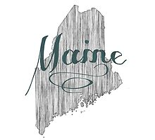 Maine State Typography by surgedesigns