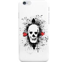 Poker skull with splater all over iPhone Case/Skin