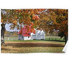 Autumn Farm Scene Poster