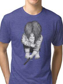 Alone... B/W Tri-blend T-Shirt
