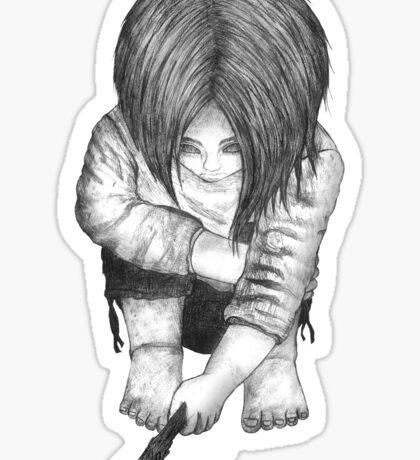 Alone... B/W Sticker