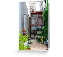 Cozy garden alley in Downtown Greeting Card