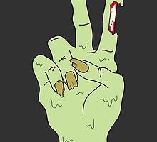 Zombie Peace Hand by myacideyes