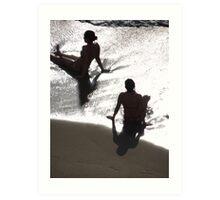 Sunlight, shade, water, sand - silhouettes I nature's artwork Art Print