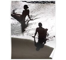 Sunlight, shade, water, sand - silhouettes I nature's artwork Poster